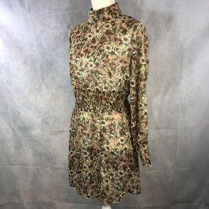 Anthropologie Paper Crane Dress Sz Med semi sheer